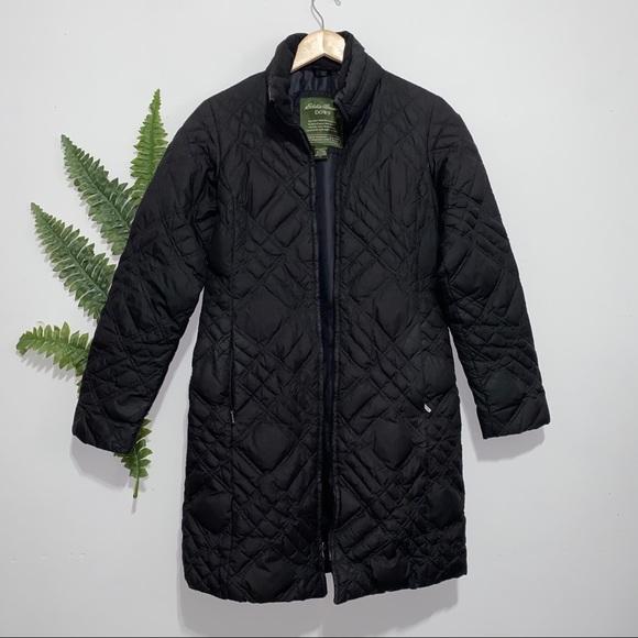 Eddie Bauer Jackets & Blazers - Eddie Bauer Down Trench Coat Goose Black Small